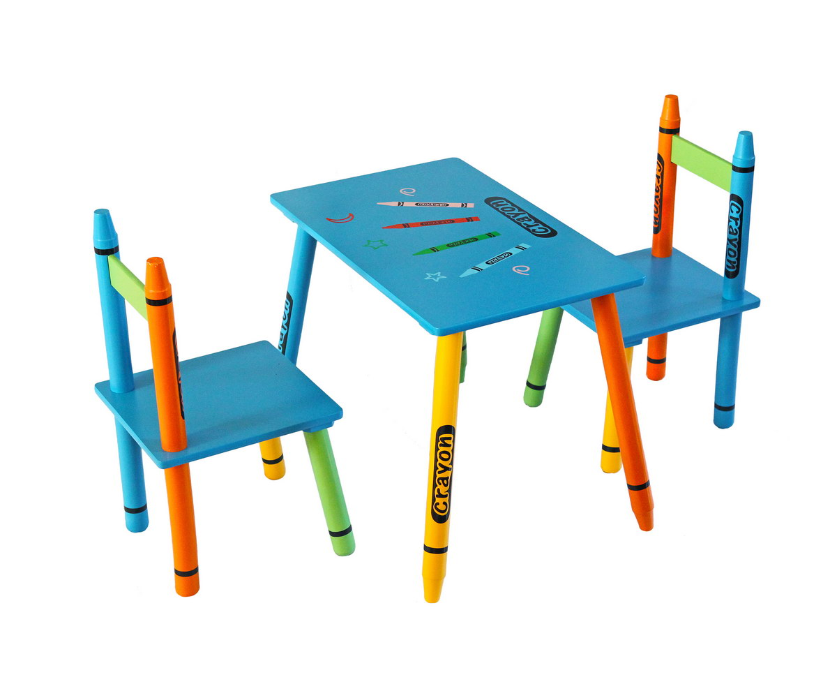 Table & Chairs - Blue-116