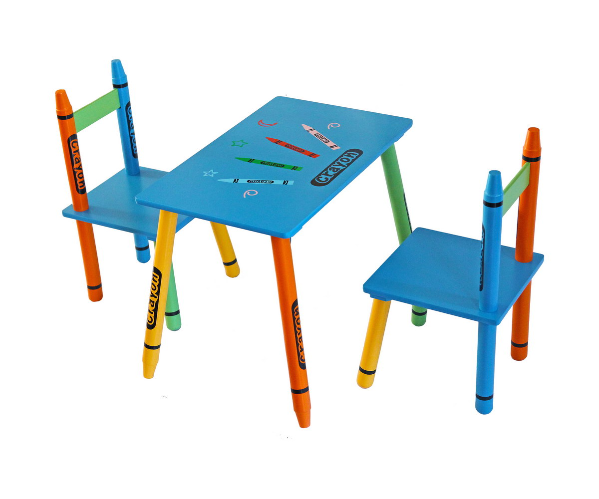 Table & Chairs - Blue-0