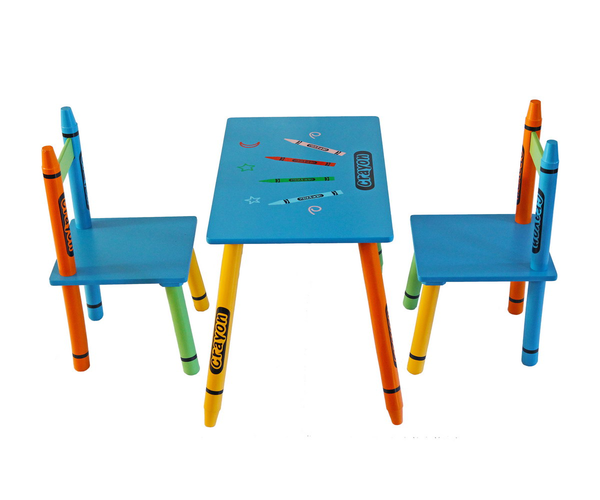 Table & Chairs - Blue-118