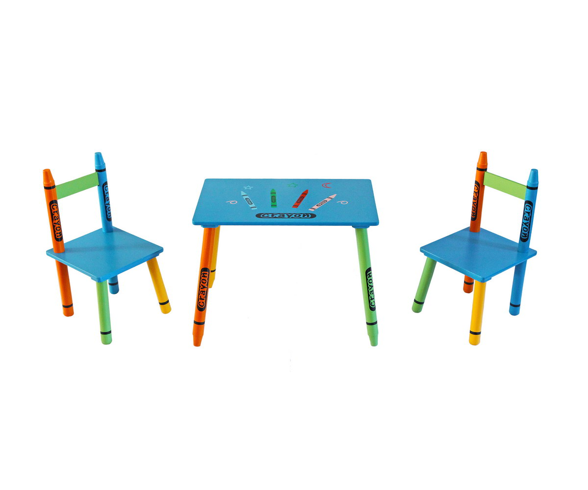 Table & Chairs - Blue-117