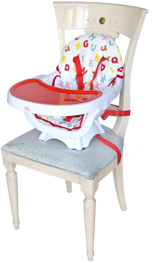 Deluxe 3 In 1 High chair - Red-168