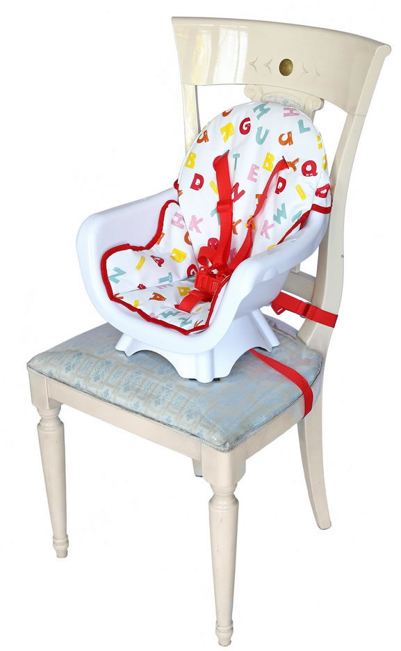 Deluxe 3 In 1 High chair - Red-172