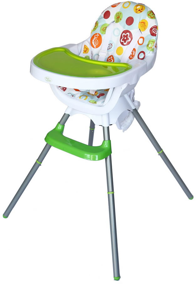 Deluxe 3 In 1 Highchair - Green-0