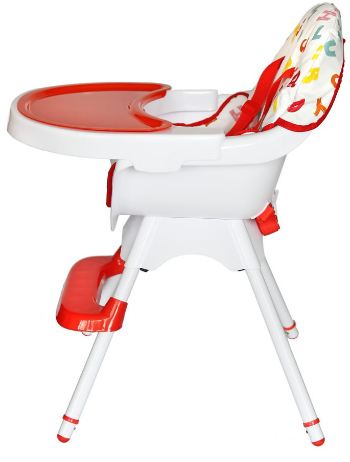 Deluxe 3 In 1 High chair - Red-173