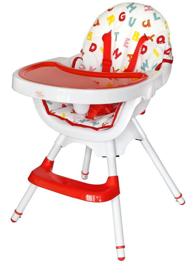 Deluxe 3 In 1 High chair - Red-174