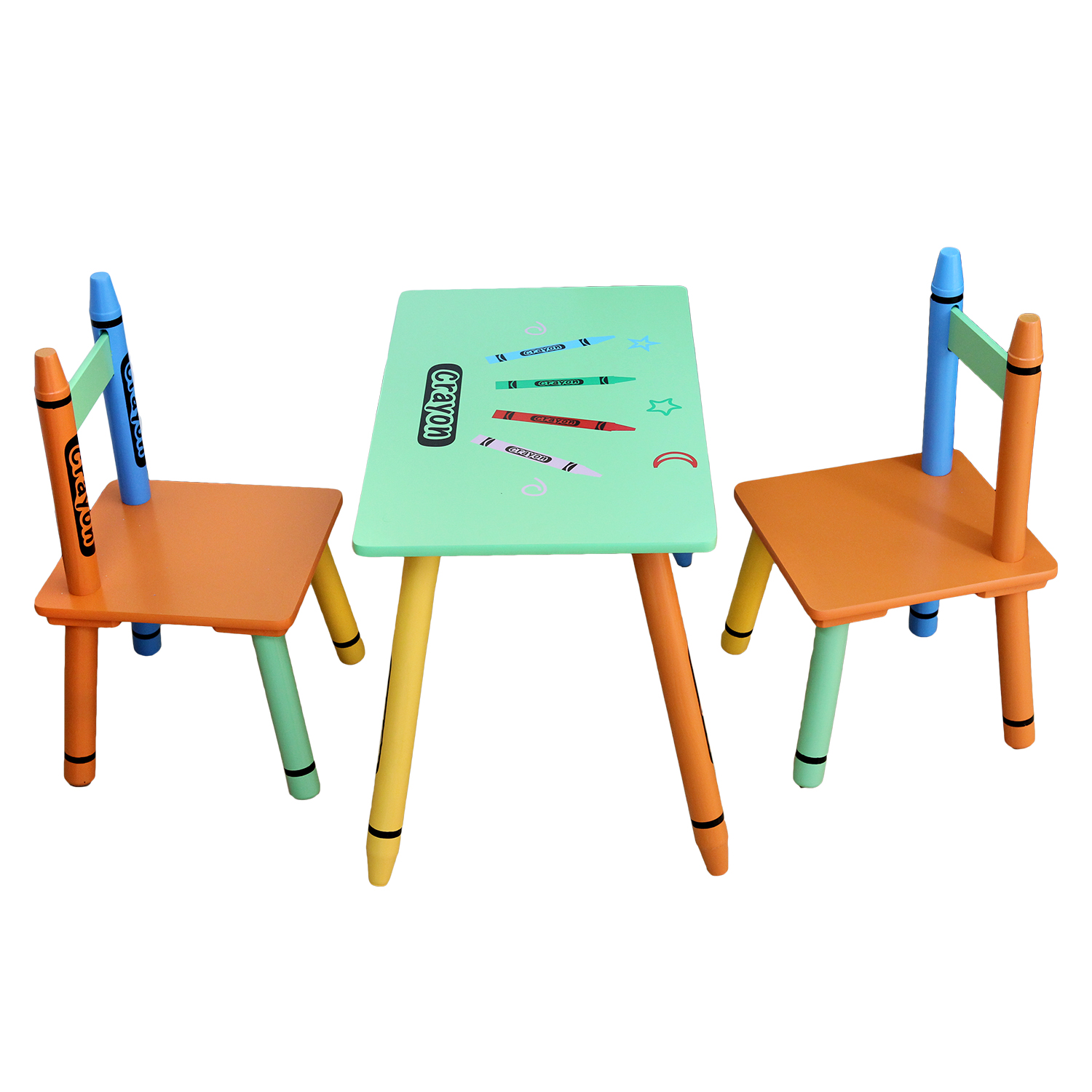 Table & Chairs - Green-122