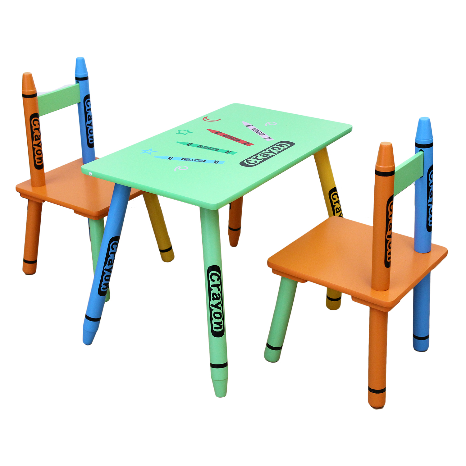 Table & Chairs - Green-0
