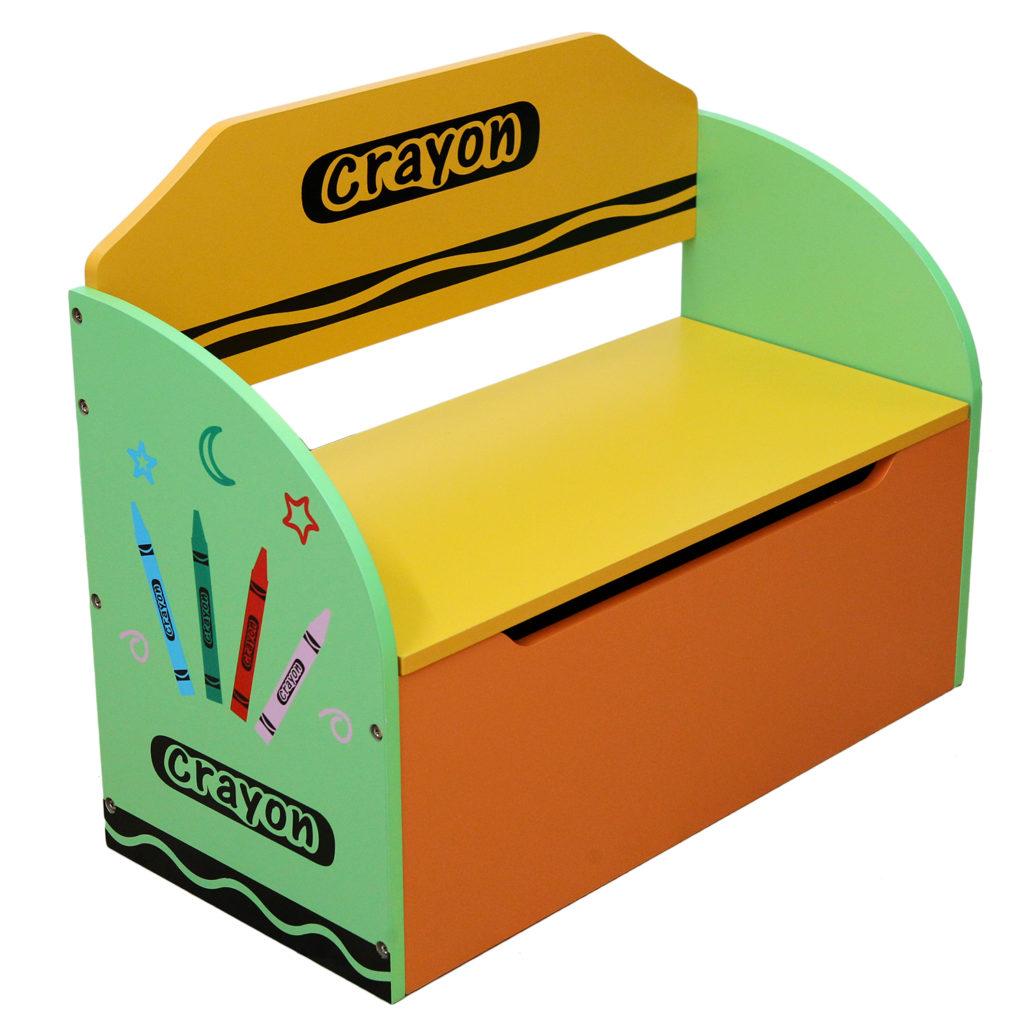 Kiddi Style Crayon Toy Box Bench Kiddy Products