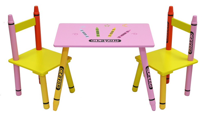 Table & Chairs - Pink-0