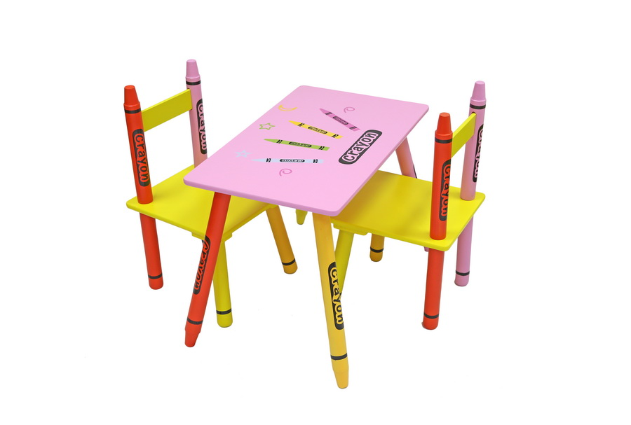 Table & Chairs - Pink-305