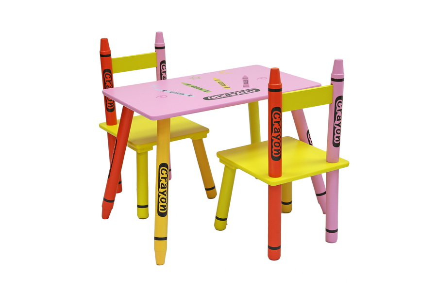 Table & Chairs - Pink-302