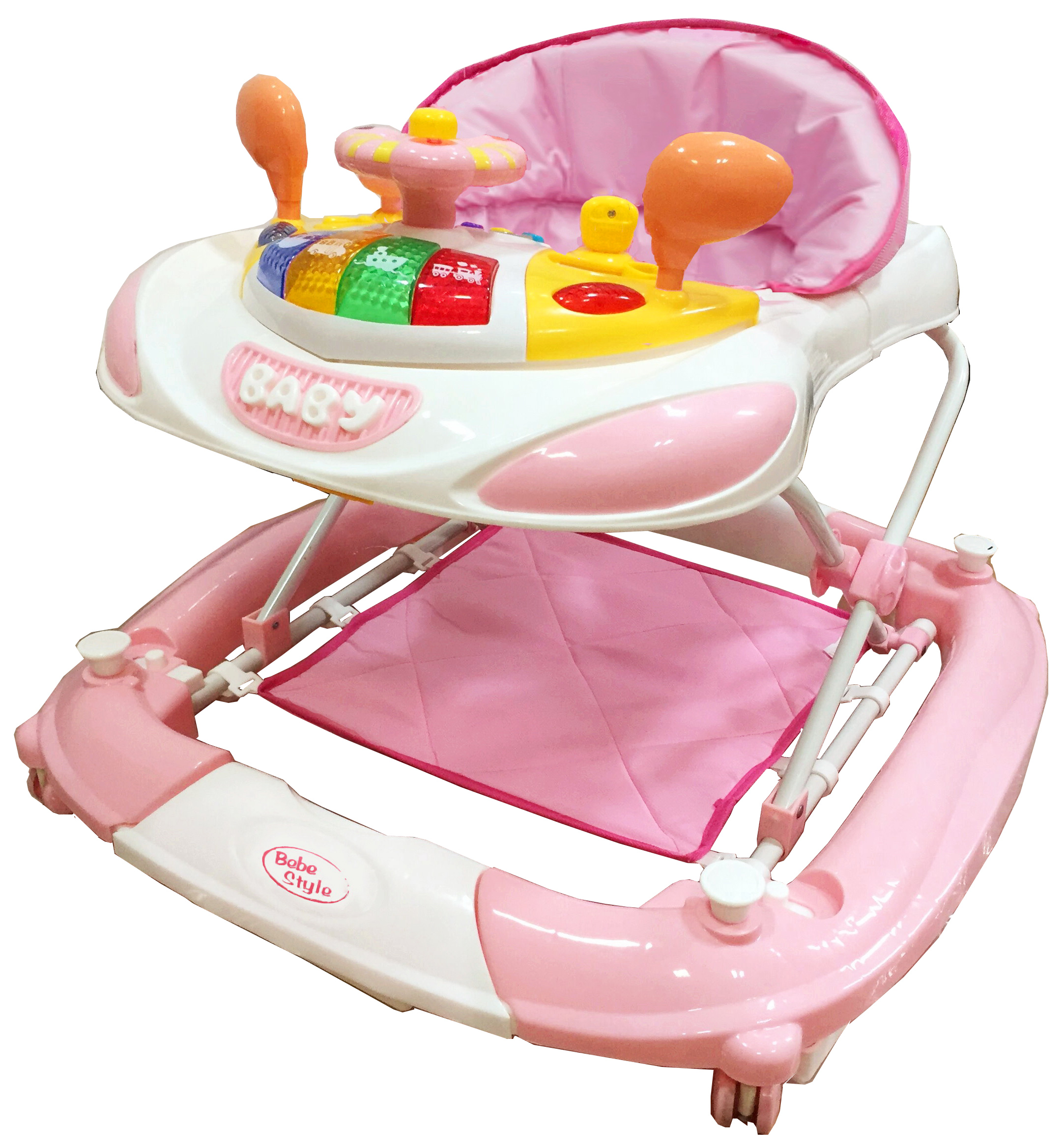 Baby Walker - Racing Car+Rocker - Pink-0