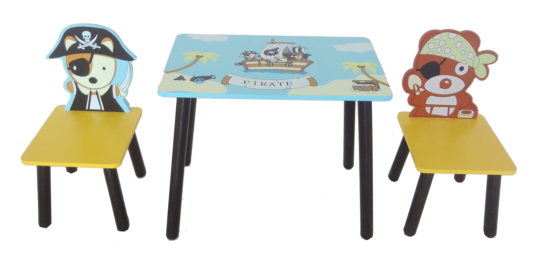 Kiddi Style Pirate Table Amp Chair Set Blue Kiddy Products