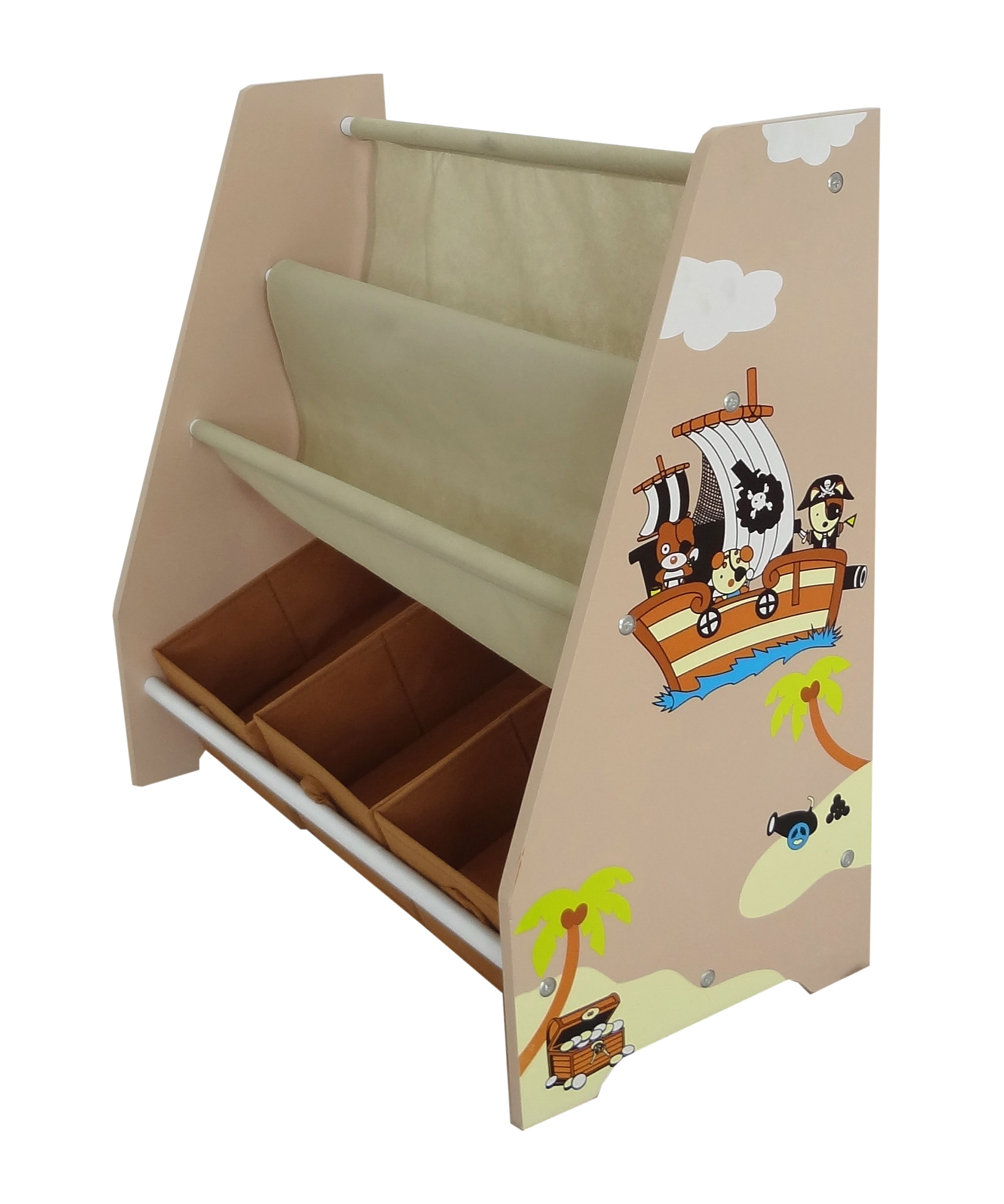 Kiddi Style Pirate Themed Sling Bookshelf And Storage Kiddy Products