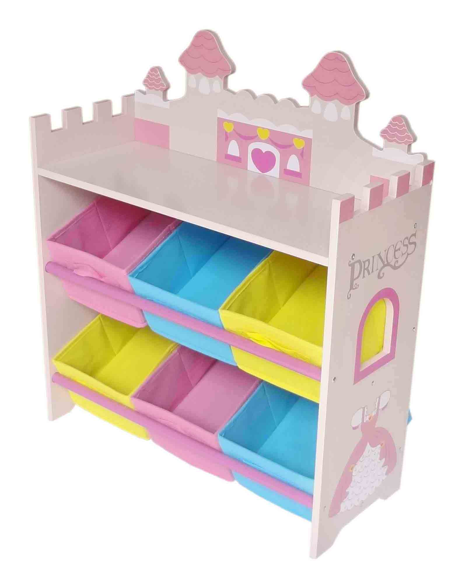 with house heart two children bookcase bookshelf liberty wood bins multi amelia pink colour dp princess toys s