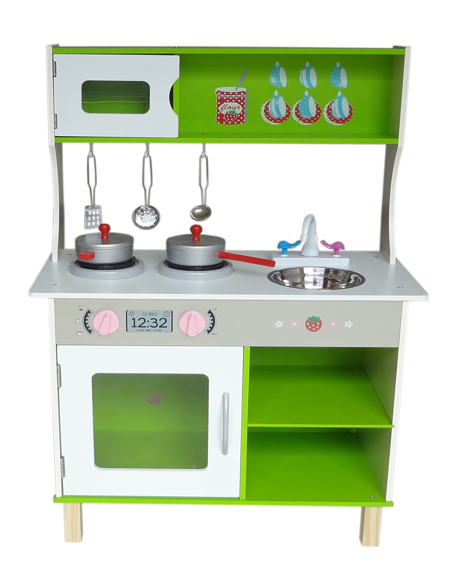 Wood Kitchen Equipment : Kiddi style large modern wooden kitchen kiddy products